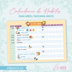 Calendario de hábitos para...