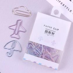 12 Clips de papel metálicos