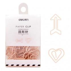 12 Clips de papel dorados