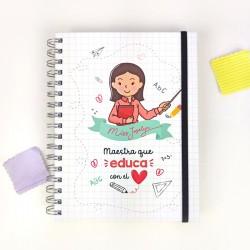 Cuaderno Maestro Personalizado